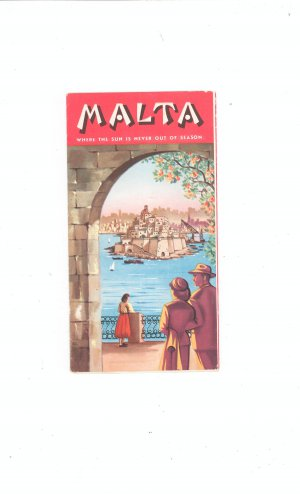 Vintage MALTA   Travel Brochure / Guide