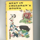 Vintage Best In Children's Books Volume 14 1958 Nelson Doubleday