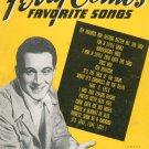 Vintage Perry Como's Favorite Songs Music Book Santly Joy Inc.