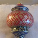 Elegant LI BIEN Ornament  Inside Painted Glass Ornament Complete With Box