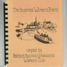 The Business Woman's Friend Cookbook Regional New York