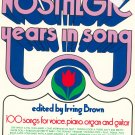 The New York Times Nostalgic Years In Song Music Book Piano 0812904486