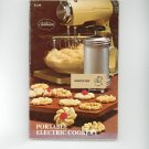 Vintage Sunbeam Portable Electric Cookery Cookbook With Instructions By Bonnie Brown 875020089