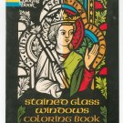 Stained Glass Windows Coloring Book By Paul Kennedy Vintage