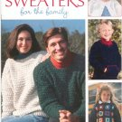 Crocheted Sweaters For The Family By Leisure Arts 13 Designs  3226