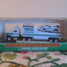 2001 Miniature Hess Racer Transport Complete With Box