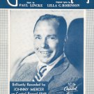 The Glow-Worm Vintage Sheet Music Edward B. Marks by Johnny Mercer Music Corp.