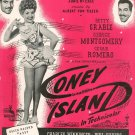 Put Your Arms Around Me Honey Coney Island Vintage Sheet Music Broadway Music Corp.