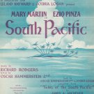 Some Enchanted Evening South Pacific Vintage Sheet Music Williamson Music Inc.
