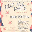 So In Love Kiss Me Kate Sheet Music Vintage T.B. Harms Company