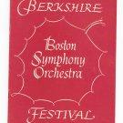 Vintage Berkshire Boston Symphony Orchestra Festival Tanglewood Souvenir Program