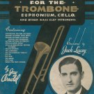 Vintage Swing Style For The Trombone Bass Clef Music Book Amsco Music Co. Jay Arnold