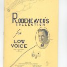 Vintage Rodeheaver's Collection For Low Voice Music