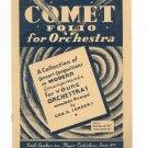 Vintage Comet Folio For Orchestra Violin Geo. H. Sander Emil Ascher Inc.