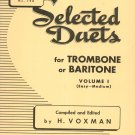Vintage Selected Duets For Trombone Or Baritone Volume 1 Easy-Medium Rubank Inc. Number 190