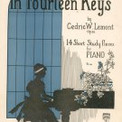 Vintage In Fourteen Keys By Cedric W. Lemont Op. 26 Piano Carl Fischer Music