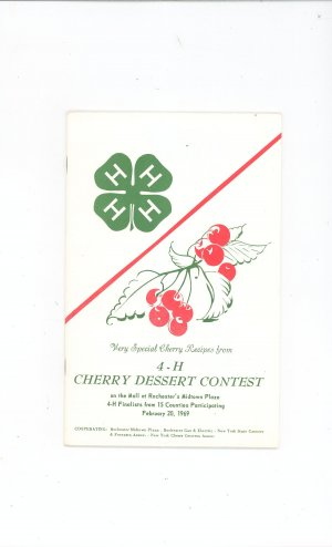 Vintage 4-H Very Special Cherry Recipes Rochester NY 1969