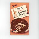 Vintage Baker's Favorite Chocolate Recipes Cookbook 1945