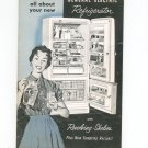 Vintage General Electric Refrigerator Manual With Recipes Model LH-14M LH-12M LM-10M LB-11M