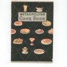 Vintage Metropolitan Cook Book Cookbook