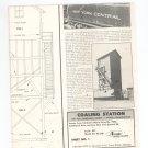 Vintage Coal Station HO Model RS-200 Alexander Assembly Instructions Sheet 1 & 2 1953