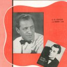Vintage I Give You My Word Sheet Music Broadcast Music Inc.