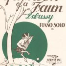 Vintage Afternoon Of A Faun Sheet Music Belwin Inc.