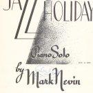 Vintage Jazz Holiday Sheet Music Schroeder & Gunther Inc.