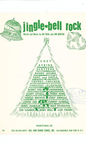 Vintage Jingle Bell Rock Sheet Music Rosarita Music Inc.