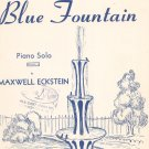 Vintage The Blue Fountain Sheet Music Carl Fischer Inc.