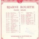 Vintage Bjarne Rolseth The Little Princess Waltz Sheet Music Schroeder & Gunther Inc.