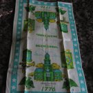 Vintage Bicentennial Independence Hall 1776 Tea Towel