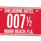 Souvenir Advertising Shelborne Hotel Florida License Plate Postcard Vintage Lot Of 3