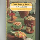 Vintage Favorite Recipes Of America Salads Including Appetizers Cookbook Hard Cover 1968