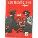 Vintage Health For Victory Meal Planning Guide Cookbook April 1944