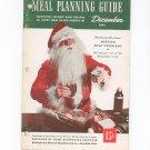 Vintage Health For Victory Meal Planning Guide Cookbook  December 1943