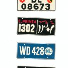 Lot Of 4 Assorted License Plates Miniature Switzerland Egypt Netherlands Malta Vintage