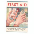 Vintage First Aid Pamphlet Advertising Metropolitan Life Insurance Company