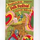 Vintage 9th Annual Pennsylvania Dutch Folk Festival Program 1958 Souvenir