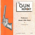 The Gun Report October 1974 Pedersen's Model 1918 Pistol R. Stephen Dorsey