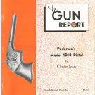 The Gun Report October 1974 Pedersen's Model 1918 Pistol R. Stephen Dorsey