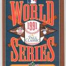Souvenir 1991 World Series Fall Classic Official Program Toronto Blue Jays Minnesota Twins