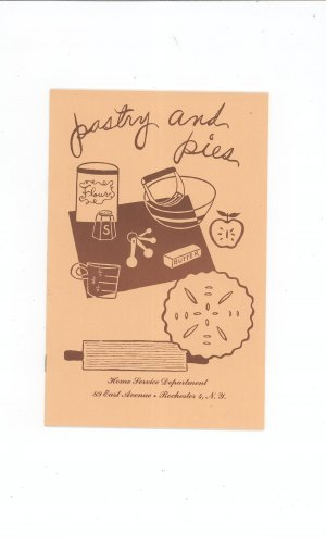 Regional Pastry And Pies Cookbook Rochester Gas & Electric New York