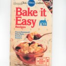 Pillsbury Bake It Easy Recipes Cookbook Classic Number 81 1987