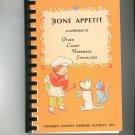 Regional Bone Appetit Cookbook Ontario County Humane Society New York