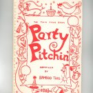 Vintage Party Pitchin Cookbook Regional New York Bamboo Twig 1962