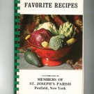 Favorite Recipes Cookbook ST. Joseph's Parish Penfield NY Regional