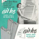 Vintage Air Loc Take Out Windows Brochure 1956