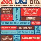 Big Big Hits All Organ Chords Words Music Music Book Robbins Music Corporation