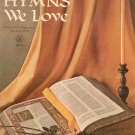 Vintage Hymns We Love Music Book All Organ Robbins Music Corporation 1968